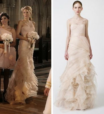 Serena van der woodsen 39 s bridesmaid dress cways wedding for Serena wedding dress gossip girl price