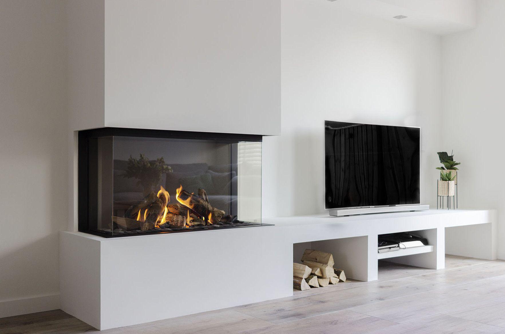 Goede Een prachtige gashaard met tv meubel. Een project waarbij wij een HI-13