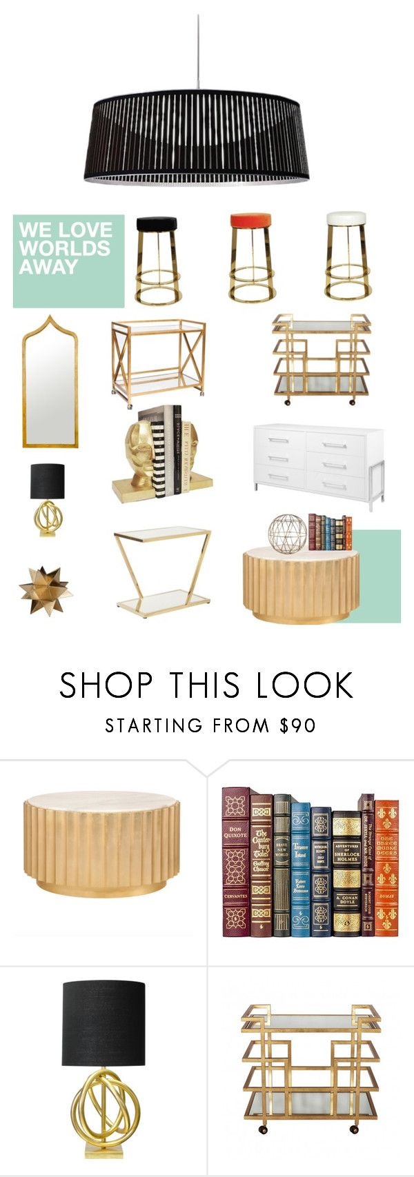 """We Love Worlds Away"" by matthewsfav on Polyvore featuring interior, interiors, interior design, home, home decor, interior decorating and Worlds Away"