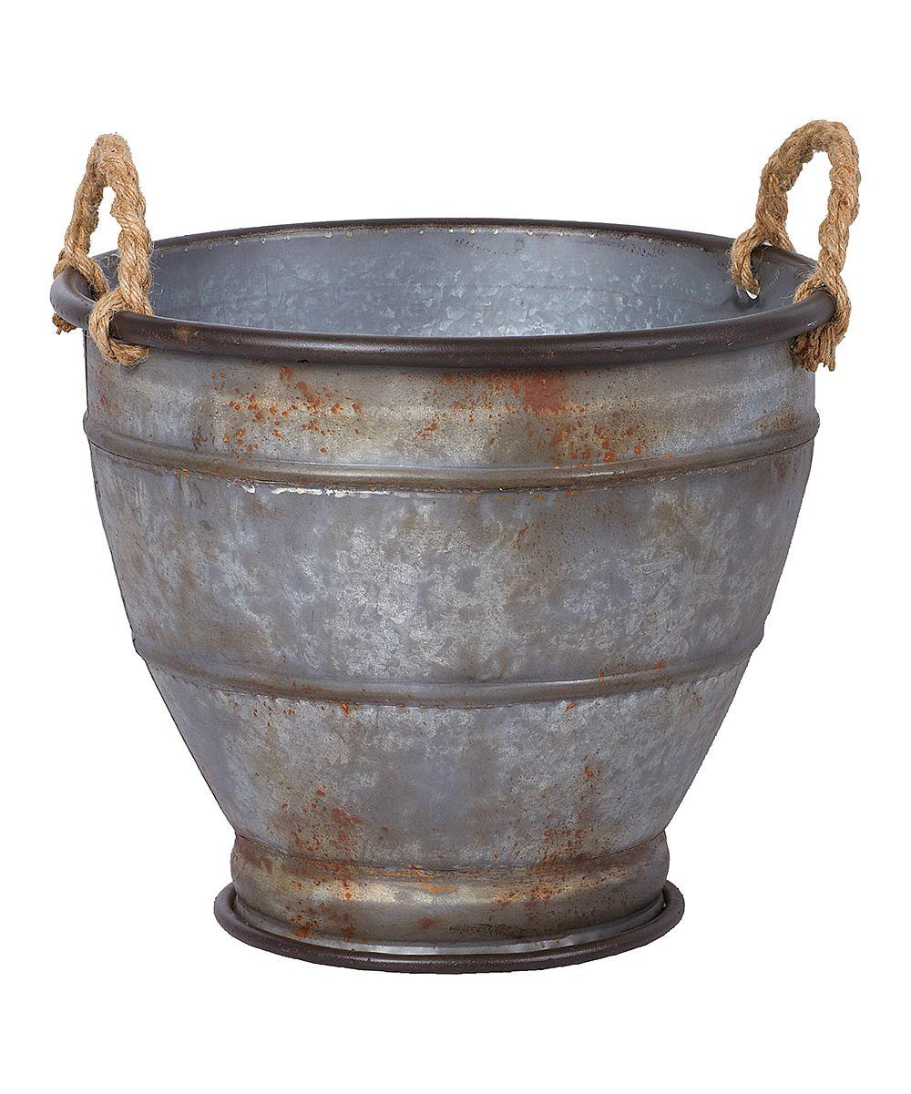 Galvanized Metal Urn Planter Set Of Three Daily Deals 400 x 300