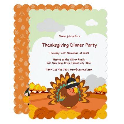 Fun Cartoon Of A Pilgrim Thanksgiving Turkey Card  Thanksgiving