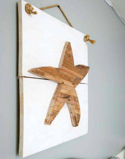 Cutout Wood Starfish On Planks As Wall Art Decor Http