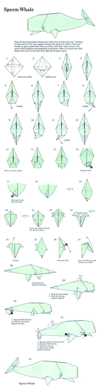 sperm whale origami diy origami whale origami origami paper rh pinterest com origami fox diagram origami fox diagram [ 1220 x 4716 Pixel ]