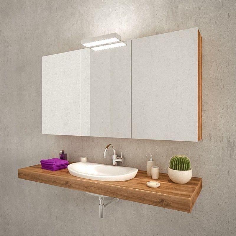 Spiegelschrank Mit Led Leuchte Kaufen Paz Badezimmer