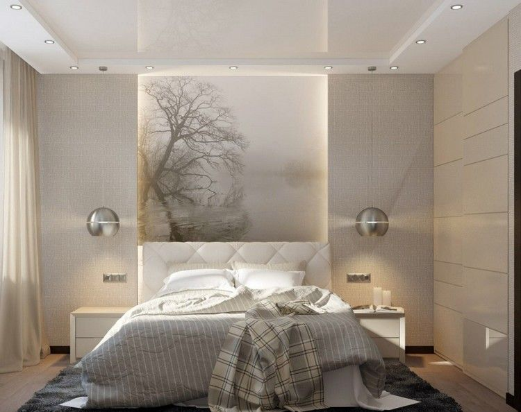 beleuchtung im schlafzimmer deckenspots pendelleuchten led leisten bett pinterest. Black Bedroom Furniture Sets. Home Design Ideas