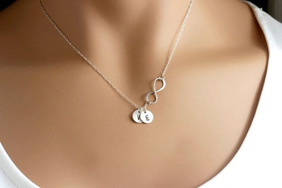 Hey, I found this really awesome Etsy listing at https://www.etsy.com/listing/173488462/initial-infinity-necklace1-2-3-4-5-discs