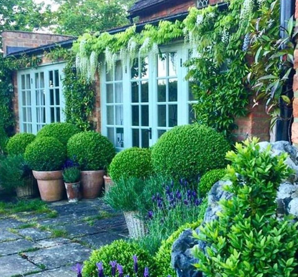 25 Gorgeous Front Yard Garden Landscaping Ideas: Wisteria, Boxwood And Lavendar #formalgardens