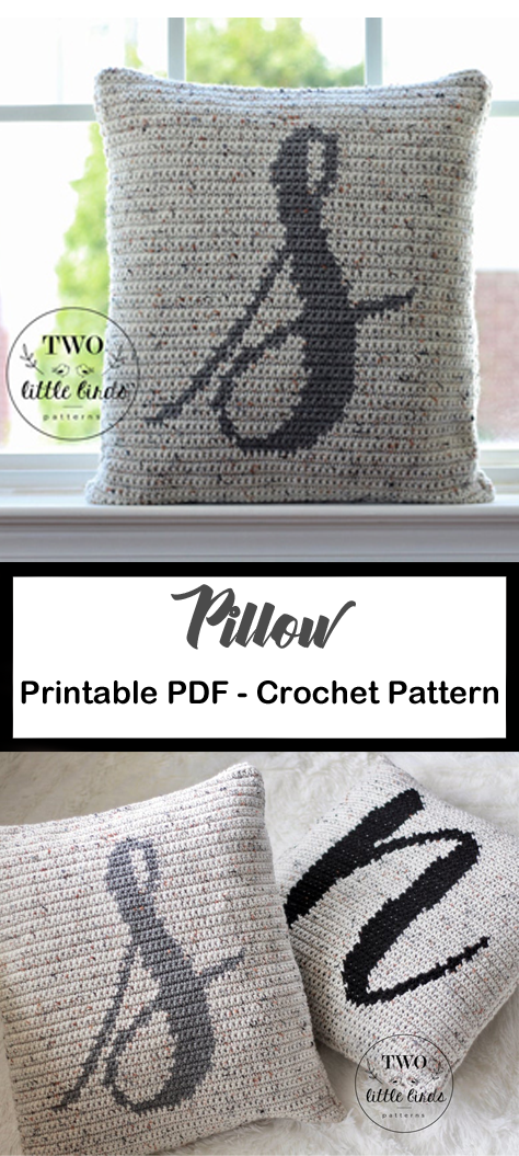 Pillow Crochet Patterns – Update Your Home - A More Crafty Life #crochet #crochetpattern #homedecor #diy #crochetpatterns