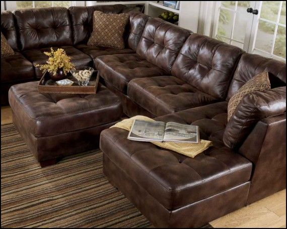 Faux Leather Sectional Sofa Ashley
