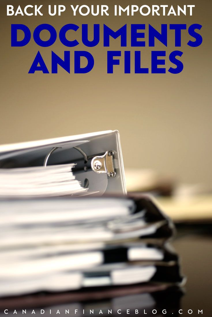 Backup Your Important Documents and Files #importantdocuments