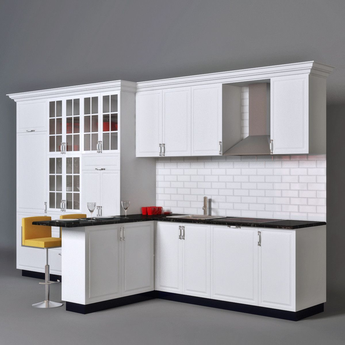 Ikea Kitchen 3d Model 3d Model Ikea Kitchen Classic Kitchens Kitchen 3d Model