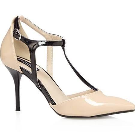 Principles by Ben De Lisi Designer Natural Patent T-Bar High Court Shoes - 8