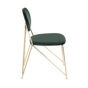Lumisource Gwen Gold With Green Velvet Side Chair Set Of 2