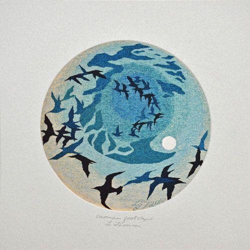 Mounted Art Print: 'Aeonian footsteps' Leila Thomson