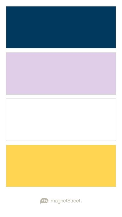 Navy Lavender White And Marigold Wedding Color Palette Custom Created At Magnetstreet