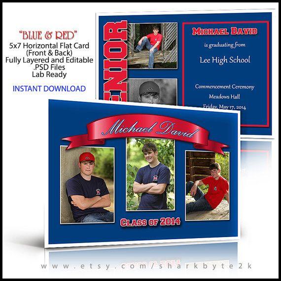 Class Of 2020 Senior Invitation 5x7 Flat Card Photoshop Etsy Senior Invitations Cards Senior Graduation Cards