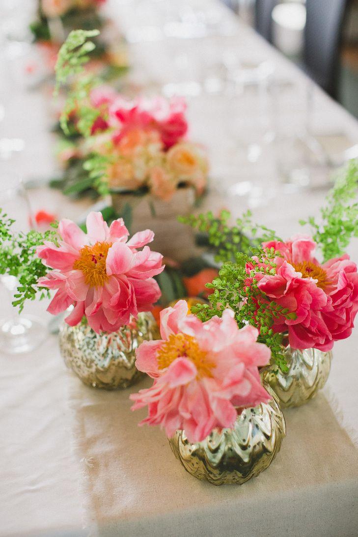 Pink and maroon wedding decor  Modern Elegance in Dallas Wedding  Wedding centerpieces