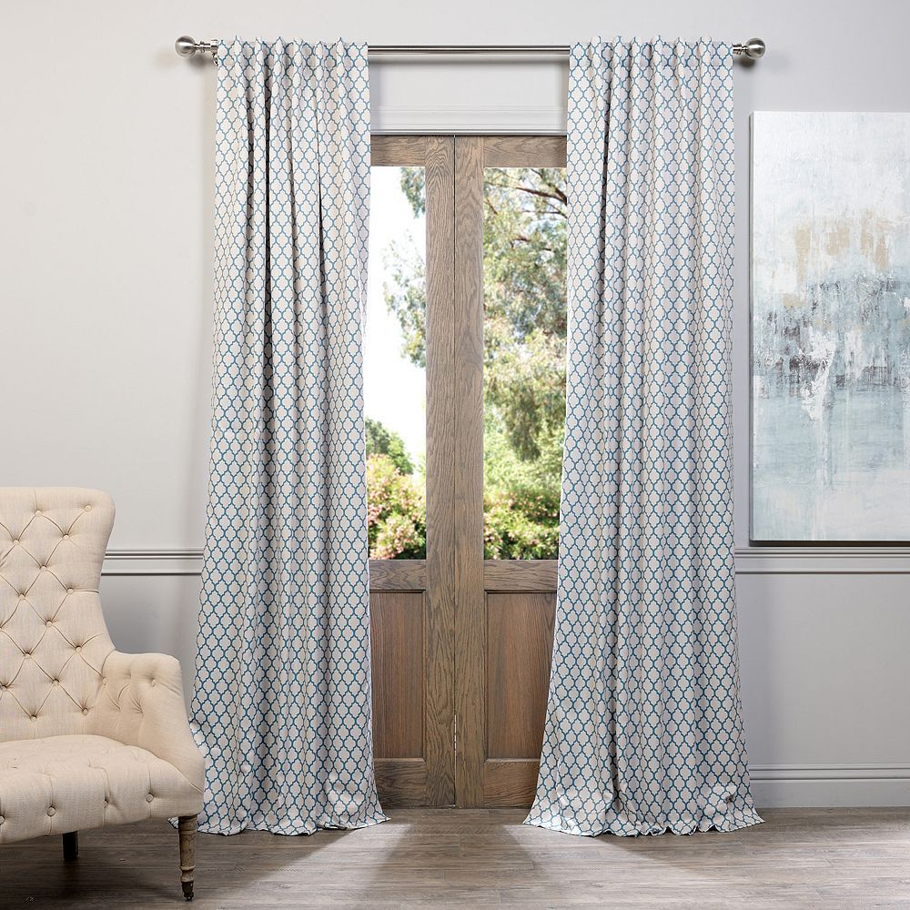 EFF Casablanca Blackout Curtain, Blue