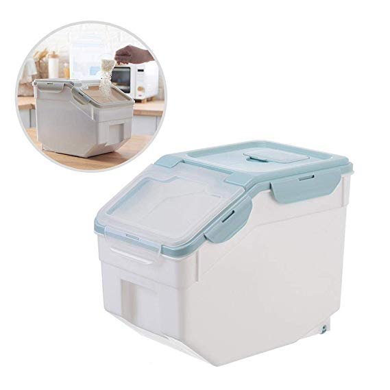 Amazon Com Volwco Rice Storage Container Rice Dispenser Rice Bin Container Cylinder Dry Food Rice Dispe Storage Containers Plastic Containers Organiser Box