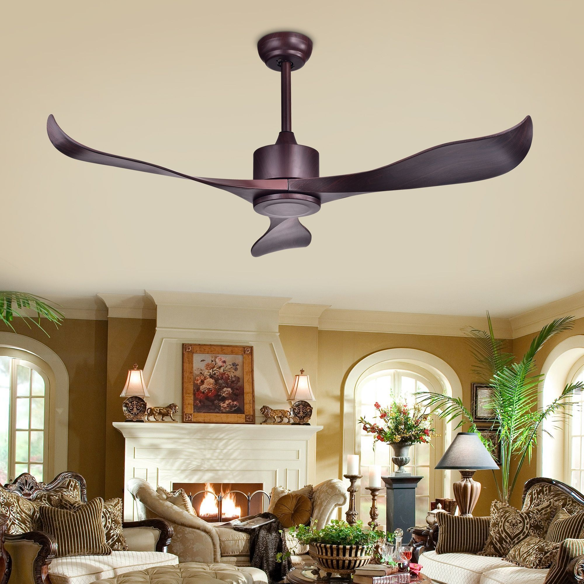 Warehouse of Tiffany Stodig Espresso ABS 52 inch Ceiling Fan ABS