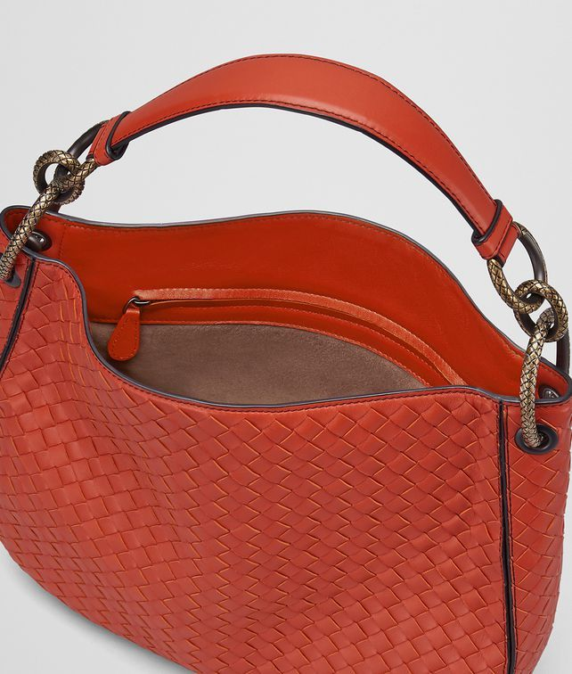 Discount Collections Clearance Low Price Bottega Veneta terracotta Intrecciato nappa small loop bag hCMaXQdZp