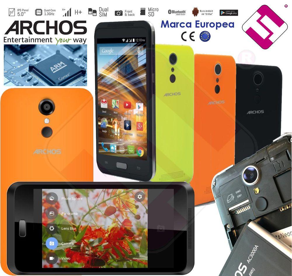 Smartphone Telefono Movil Libre Archos 45 Neon Pantalla 5 Ips Quad