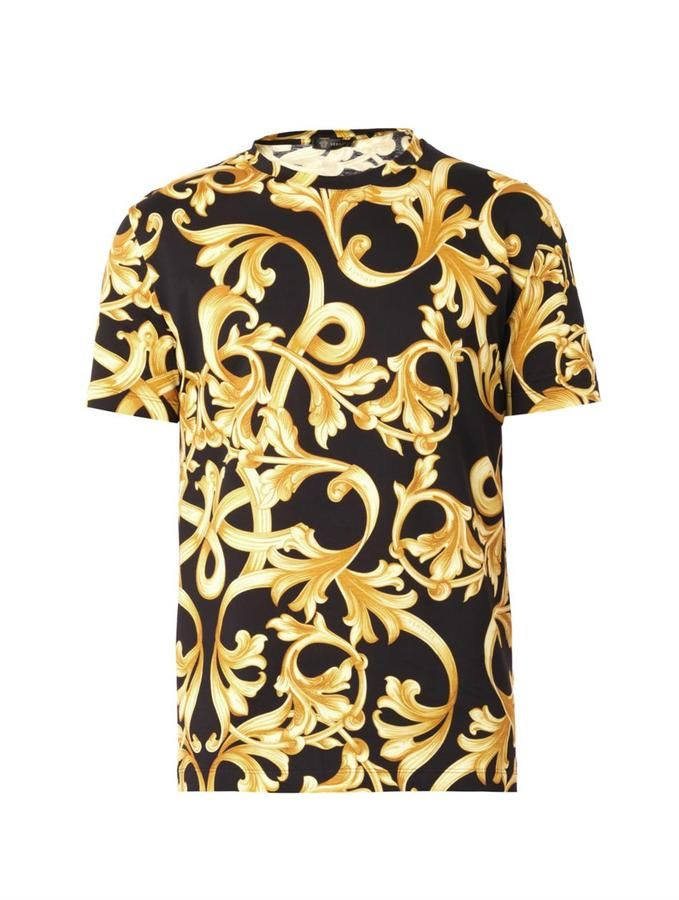 80112c834e8 Versace Barocco-print T-shirt on shopstyle.com | Things to Wear in ...