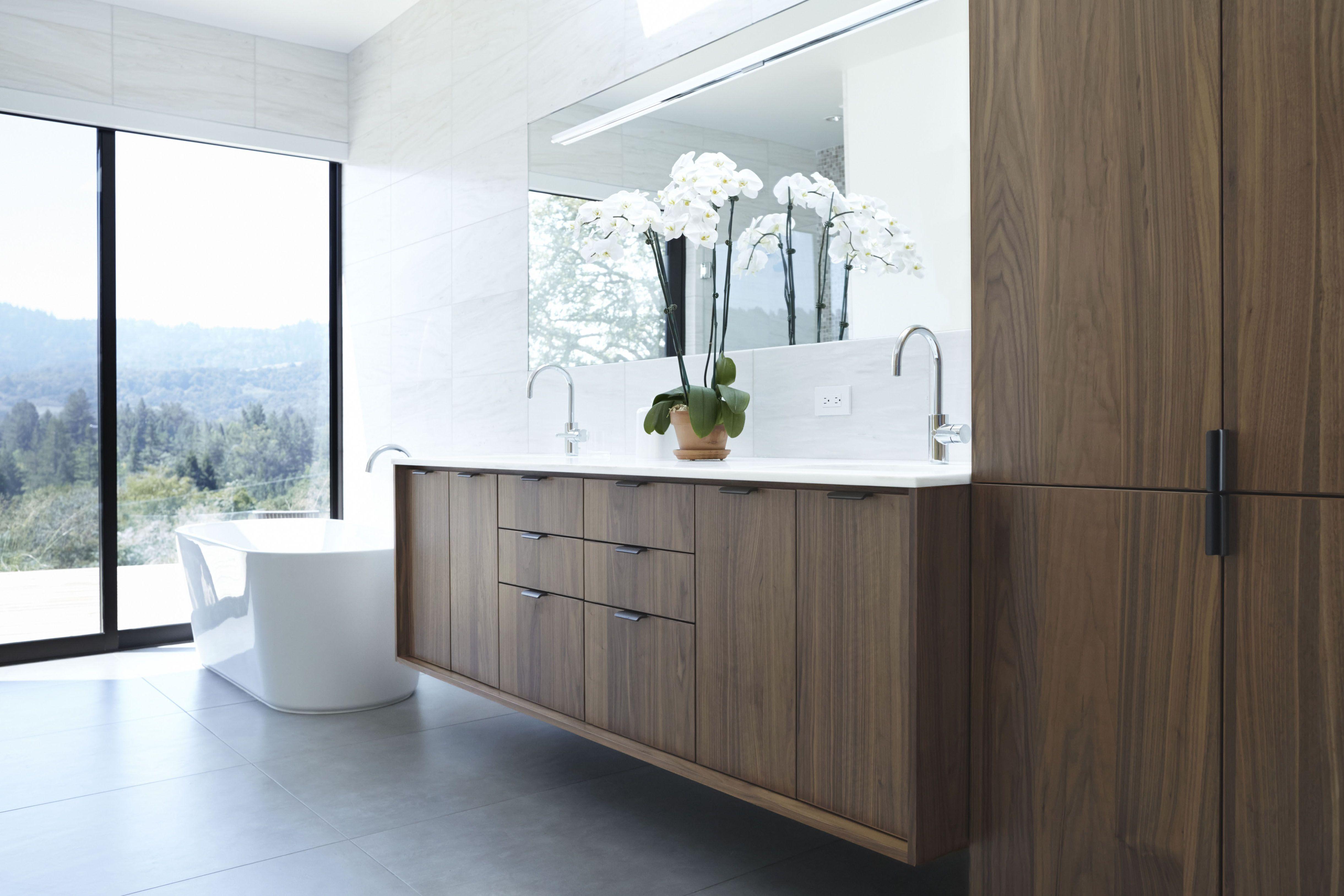 Best Walnut Flat Panel Cabinets Best Bathroom Vanities Brown 400 x 300