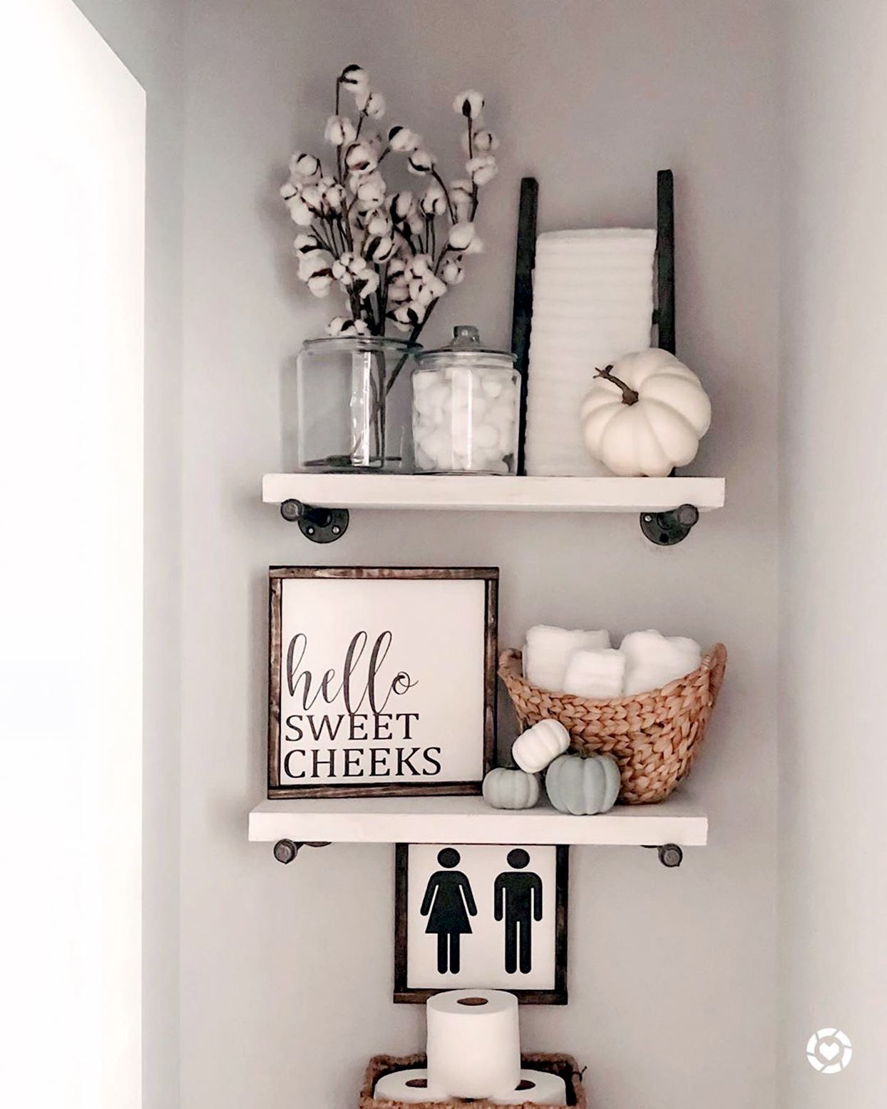 9 No Fail Ways To Add Fall Decor To Your Bathroom Fall Bathroom Decor Bathroom Shelf Decor Bathroom Decor Apartment