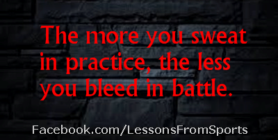 """Baseball Quote - """"The more you sweat in practice..."""" Check out our website for expert advice, tips, downloads and more about baseball and other subjects at: http://lessonsfromexperts.com (Baseball's website coming soon, but you can also check out baseball and other sport stories at http://lessonsfromsports.com). Visit us on Facebook: http://Facebook.com/LessonsFrombaseball; and Twitter: @LessonsBaseball"""