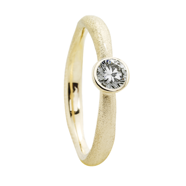 Muffin Ring w. 1 diamond