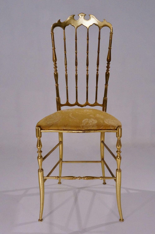 Chiavari Brass Chair With High Back 1950 S Ca Italian Www  # Muebles Dorados