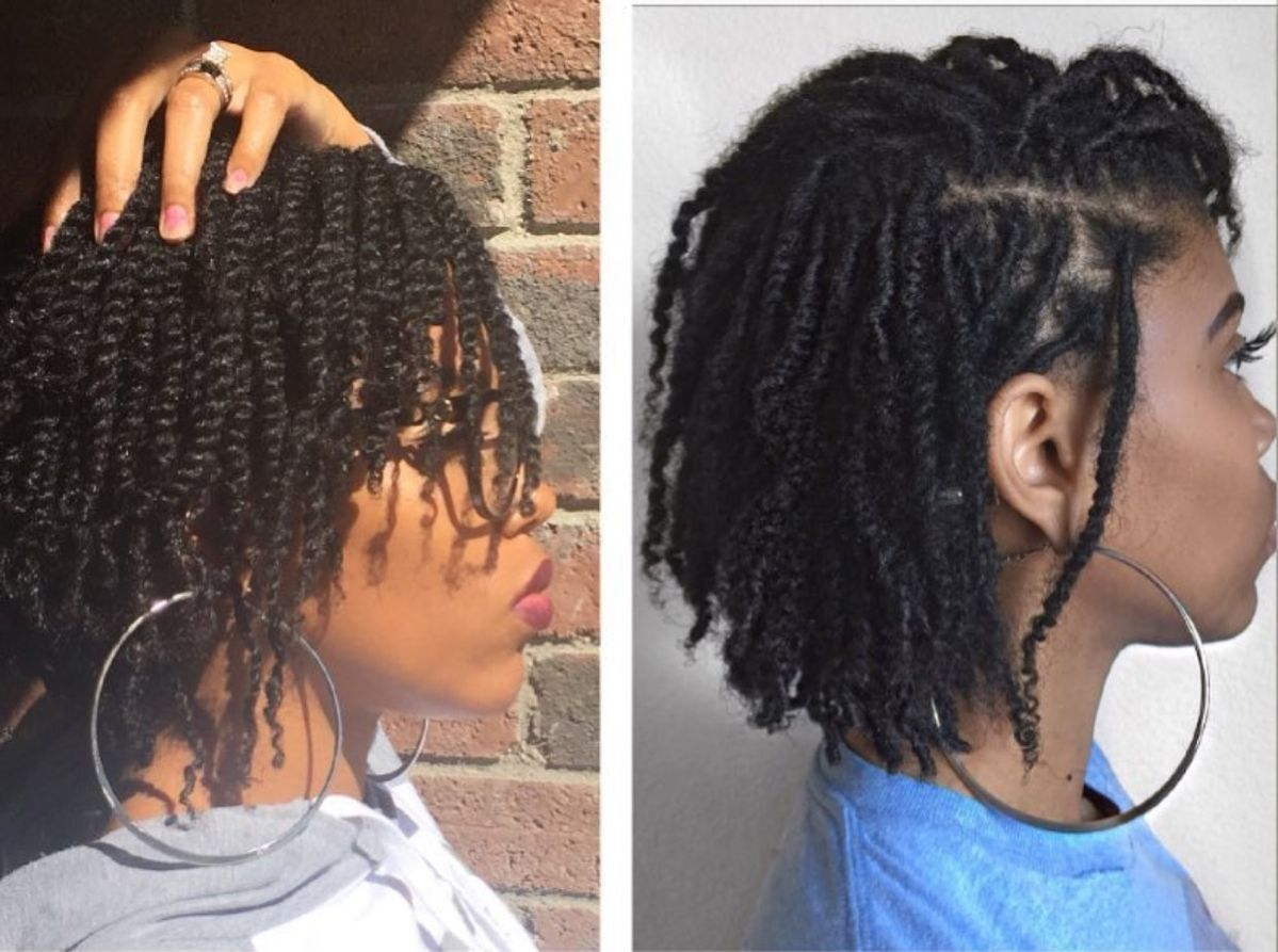 These Cute Two Strand Twists Are A Great Protective Style That You Can Switch Up And Mak Natural Hair Twists Mini Twists Natural Hair Short Natural Hair Styles