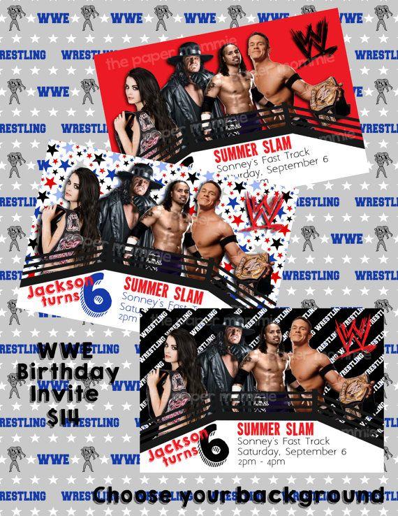 Wwe birthday invitation 14 digital file purchase matching party wwe birthday invitation 14 digital file purchase matching party decorations available wrestling filmwisefo
