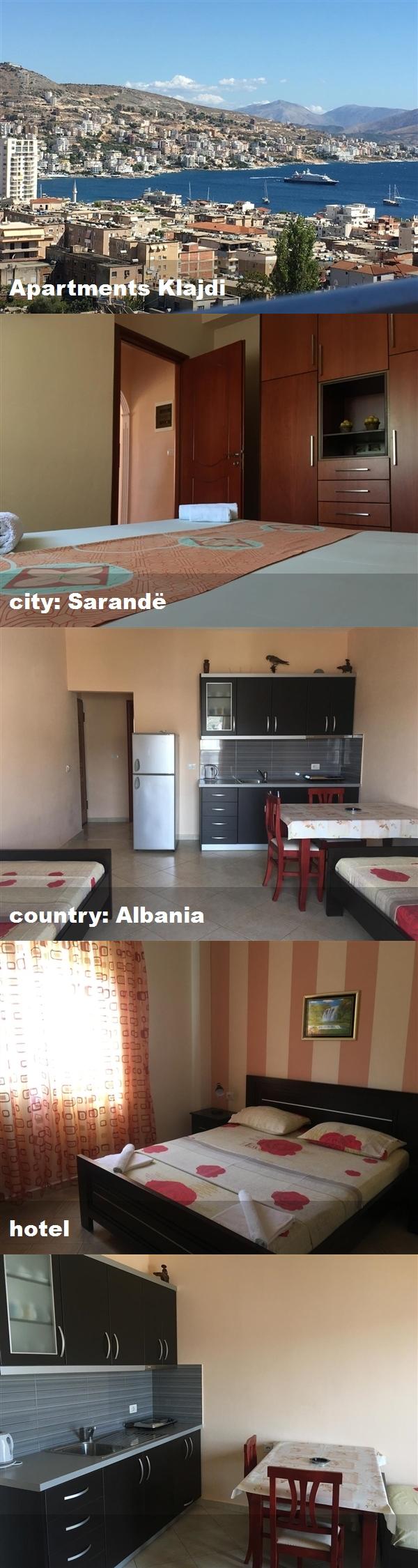 Apartments Klajdi, city Sarandë, country Albania, hotel