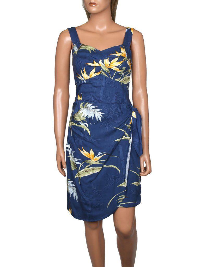 4de5c05805 Bamboo Paradise Short Sarong Wrap Dress w/ Adjustable Straps #PF-140 ...