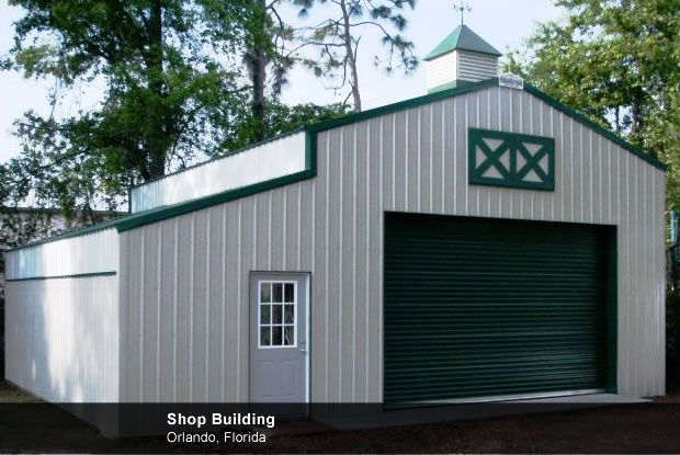 Metal agricultural shops and barns with living quarters for Shop buildings with living quarters
