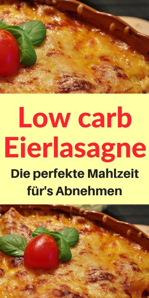 Low Carb Eierlasagne - Ideales Mittagessen - Low Carb Held