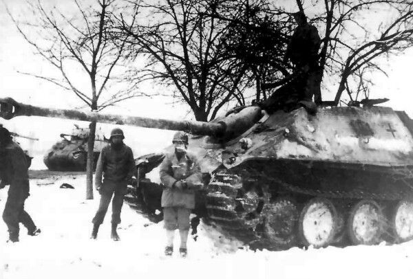 A captured german tank destroyer jagdpanther during the ardennes a captured german tank destroyer jagdpanther during the ardennes offensive in december 1944 publicscrutiny Gallery