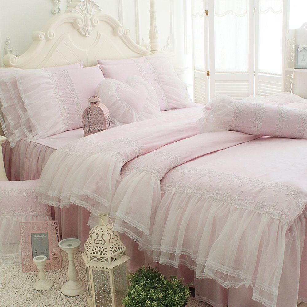 Victorian Bedding Victorian Bedding Collections Tidetex 4pc Romantic Light Pink