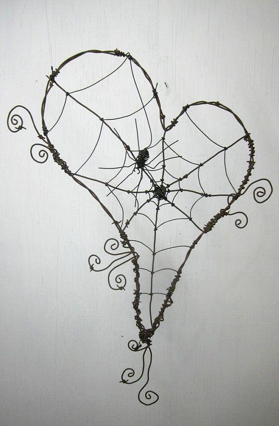 DIY Wire wrapped spider web. Halloween diy, Halloween