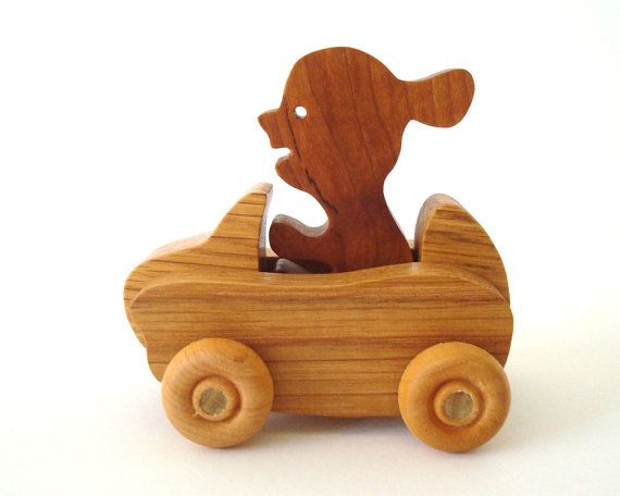 Wooden Girl Car Toy Childrens Wood Toy Waldorf Toy Push Toy Creative Play