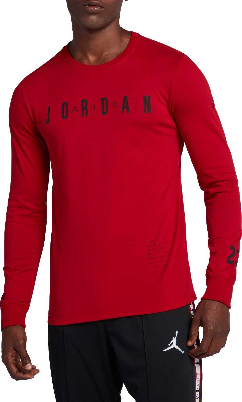 42ff411231e Jordan Men's Basketball Long Sleeve Graphic T-Shirt in 2019 ...