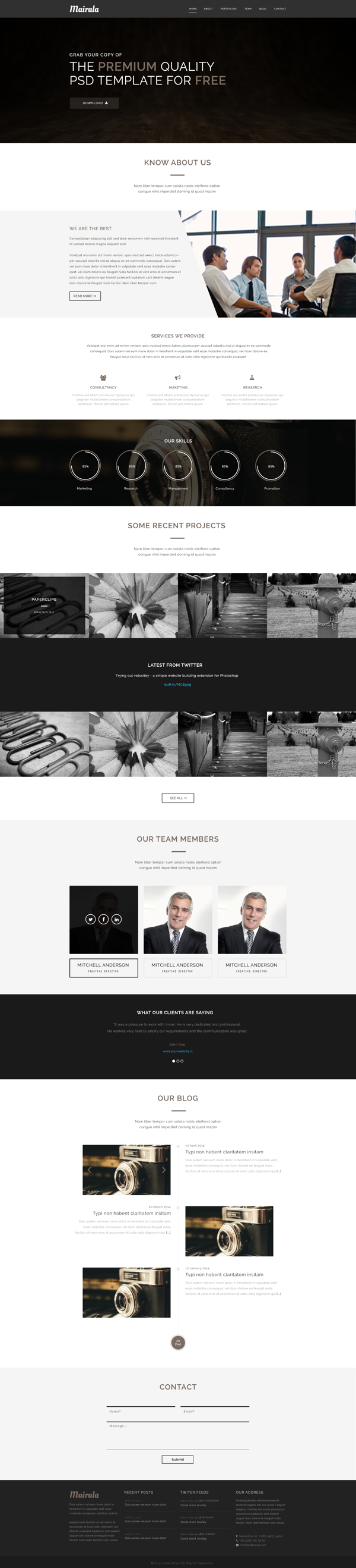 Psd Templates 20 One Page Free Web Templates Freebies Psd Template Free Corporate Web Design Psd Templates