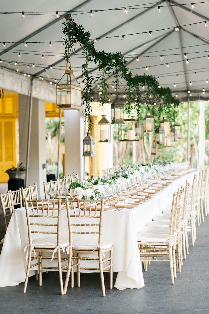 Spring Chic Florida Wedding At The Bonnet House Wedding Reception