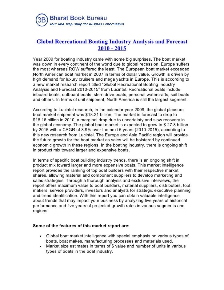 Global Recreational Boating Industry Analysis and Forecast 2010 - library assistant cover letter