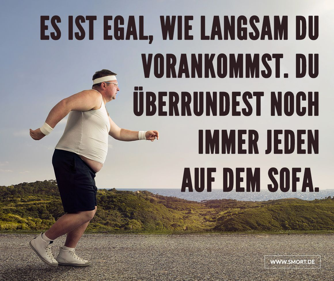 Motivationsspr che f r sport auf fitness for Couch lustig