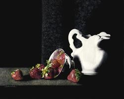 Art: Strawberries & Cream by Artist Sandra Willard