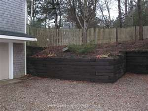 Retaining Walls Railroad Tie Retaining Wall Landscaping Retaining Walls Small Patio Garden