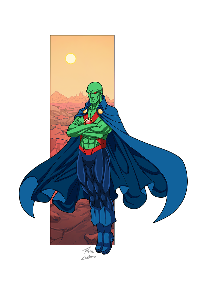Martian Manhunter Commission By Phil Cho On Deviantart Martian Manhunter Dc Comics Characters The Martian
